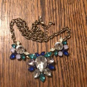 J Crew Statement Necklace blue, teal, pink, yellow